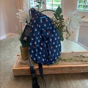 KAVU BLUE MIDNIGHT OWL S ROPE SLING CROSSBODY BAG